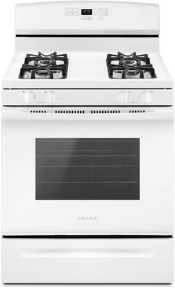 Amana 5.0 Cu. Ft. Self-Cleaning Freestanding Gas Range White AGR6603SFW