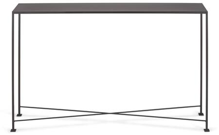 Diversey Collection 207252 48 inch  Console Table with X-Shaped Cross Brace  Stacked Foot Design and Solid Steel Bar Powder Coated in Coco Brown