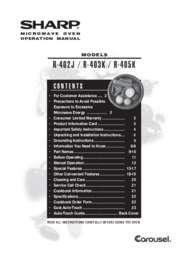 R-402J  R-403K  R-405K Microwave Operation Manual
