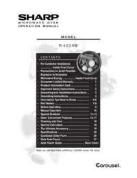 R-403HW Microwave Operation Manual (330K)