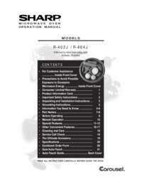 R-404JK Microwave Operation Manual (1000K)