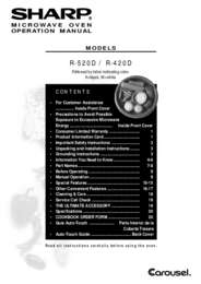 R-420D Microwave Operation Manual (340K)