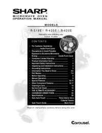 R-420E Microwave Operation Manual (625K)