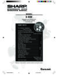 R-426HS/HK/HW/HQ Microwave Operation Manual (4300K