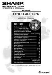 R-428JK/JW Microwave Operation Manual (1000K)