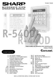 R-440D Microwave Operation Manual (1000K)