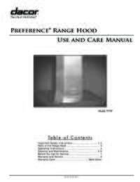 Use&Care Manuals PDF [1.0 MB]