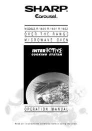 R-1600  R-1601  R-1602 Microwave Operation Manual (340K)