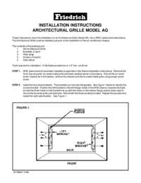 Architectural Grill (AG) Installation Instructions