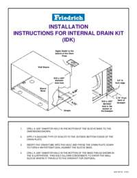 Internal Drain Kit (IDK) Installation Instructions
