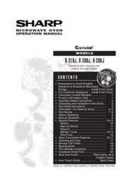 R-308JK/JW/JS  R-309JW  R-310JK/JW Operation Manual (710K)