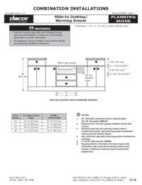 Combined Configuration Slide-In Gas Cooktop - Dual Warming Drawers (Side-by-Side)?? PDF [0.5 MB]
