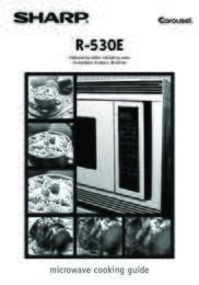 R-530ES Microwave Operation Manual (File Size: 1017k)