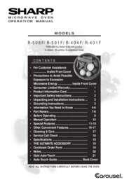 R-501F  R-508F Microwave Operation Manual (770K)