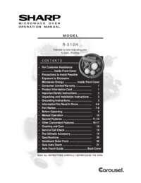 R-510HK/HW Microwave Operation Manual (385K)