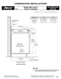 Combined Configuration Single Wall Oven - Drop-In Cooktop 120208?? PDF [0.3 MB]