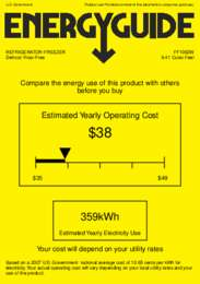 FF1062W Energy Guide
