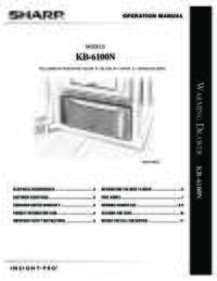 Owners Manual for KB-6100NW (File Size: 1068k)