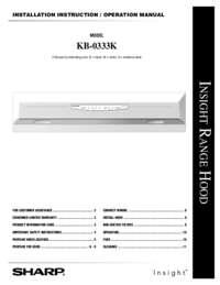 KB-0333K Operation Manual / Installation Instructions (File Size: 801k)