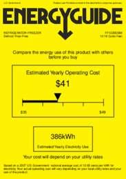 FF1325SSIM Energy Guide