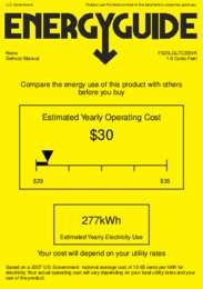 FS20LGL7CSSVK Energy Guide