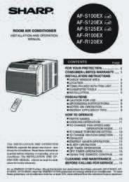 AF-S100EX  AF-S120EX Operation Manual (1100K)