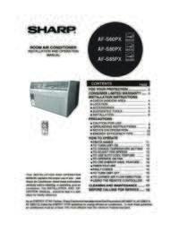 AF-S60PX  AF-S80PX  AF-S85PX Operation Manual (6000K)
