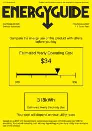 FFAR2LGLCSS7 Energy Guide