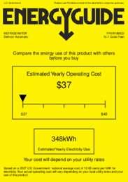 FFAR10MED Energy Guide