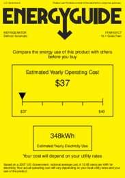 FFAR10FC7 Energy Guide