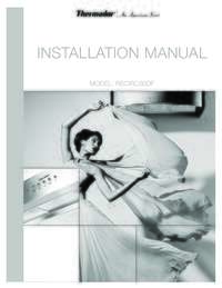 Downdraft Recirculation Module (Accessory) Installation Manual
