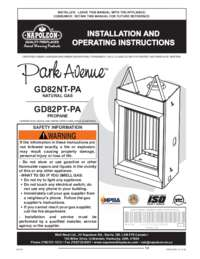 Installation and Operating Instructions