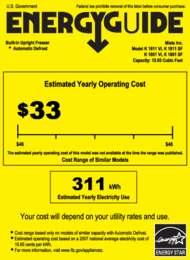 Energy Guide Labels: K1801, K1811