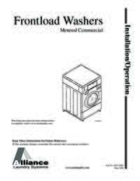 Front Load Washer Advertising Literature Quantum Coin/Card-Op Rear Control Horizon(R) Washers