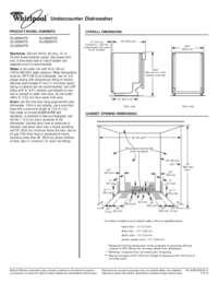 whirlpool gold series dishwasher manual