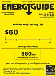 Energy Guide Labels: F1801, F1811
