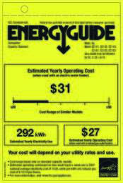 Energy Guide Labels: G2141_42_43_81_82_83