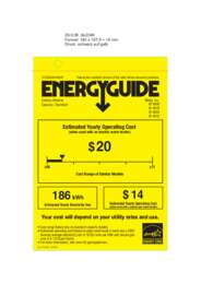 Energy Guide Labels: W4800, W4802,W4840, W4842