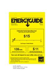 Energy Guide Labels: W3035