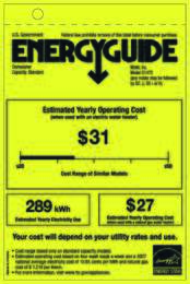 Energy Guide Labels: G1472