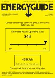 CT66FR Energy Guide