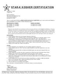 Star-K Kosher Certification