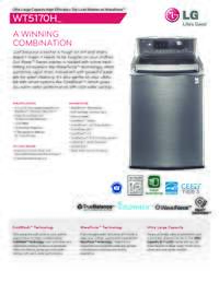 WT5170HV Washer Specifications