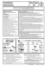 GTDX400GDWS Installation Instructions