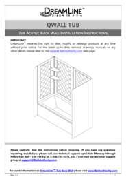 Qwall Tub Manual