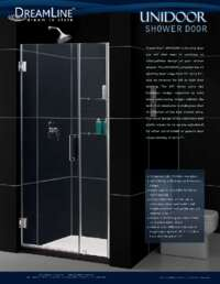 Unidoor Series Shower Doors Item Info