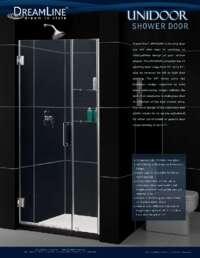 Unidoor Series Shower Doors Item Info