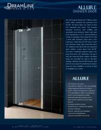 Allure Series Shower Doors Info