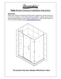 Vista Series Shower Enclosure Manual