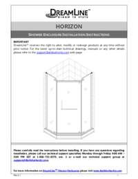 Horizon Series Shower Enclosure Manual